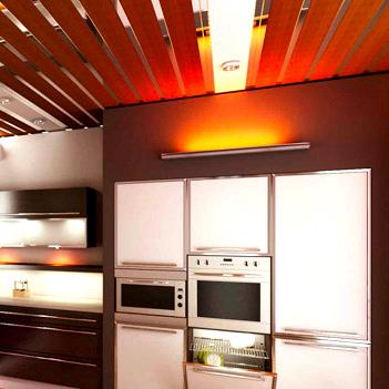 Варианты дизайна реечных потолков