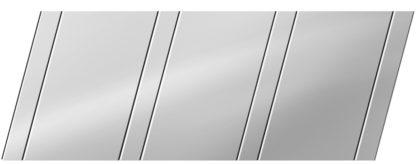 Зеркальный реечный потолок 100 P и 25 P, цвет: панель - 131