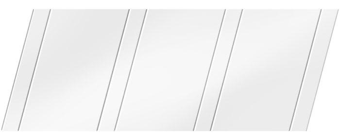 Матовый реечный потолок 100 P и 25 P, цвет: панель - 140