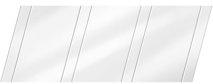 Глянцевый реечный потолок 100 P и 25 P, цвет: панель - 141