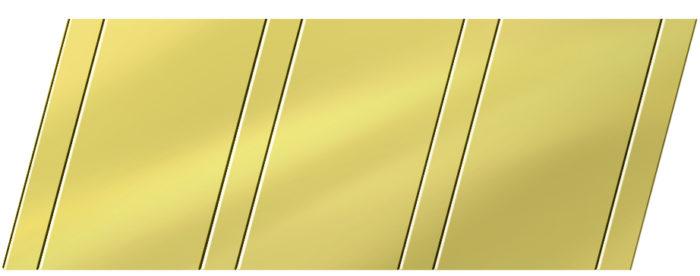 Зеркальный реечный потолок 100 P и 25 P, цвет: панель - 151