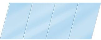 Глянцевый реечный потолок 100 P, цвет: панель - 015 1