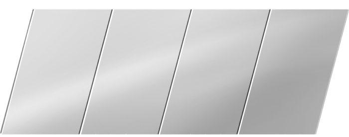 Зеркальный реечный потолок 100 P, цвет: панель - 131