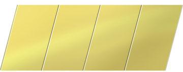Зеркальный реечный потолок 100 P, цвет: панель - 151