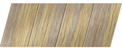 Реечный потолок с фактурой темное дерево (дуб антик) 100 P, цвет: панель - 204