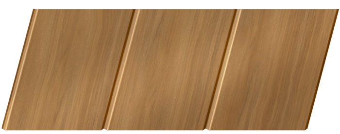 Реечный потолок с фактурой темное дерево 150 C, цвет: панель - 106