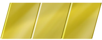 Зеркальный реечный потолок 150 C, цвет: панель - 151 1