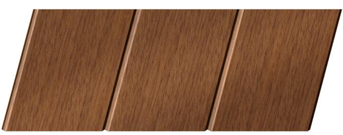 Реечный потолок с фактурой темное дерево (дуб медовый) 150 C, цвет: панель - 205