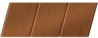Реечный потолок с фактурой темное дерево (орех) 150 C, цвет: панель - 206