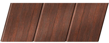 Реечный потолок с фактурой темное дерево (махагон) 150 C, цвет: панель - 209