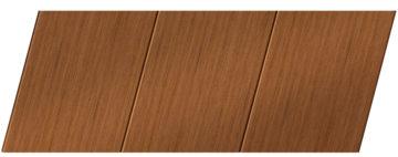 Реечный потолок с фактурой темное дерево (орех) 150 P, цвет: панель - 206