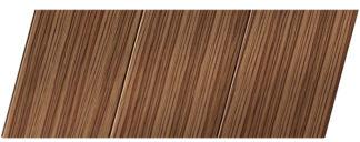 Реечный потолок с фактурой темное дерево (зебрано) 150 P, цвет: панель - 208