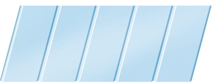 Матовый реечный потолок 75 C, цвет: панель - 015