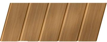 Реечный потолок с фактурой темное дерево 75 C, цвет: панель - 106