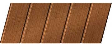 Реечный потолок с фактурой темное дерево (орех) 75 C, цвет: панель - 206