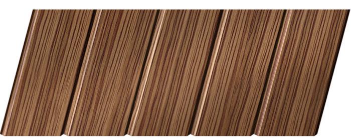 Реечный потолок с фактурой темное дерево (зебрано) 75 C, цвет: панель - 208