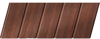 Реечный потолок с фактурой темное дерево (махагон) 75 C, цвет: панель - 209