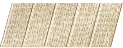 Реечный потолок с фактурой светлое дерево (ротанг) 75 C, цвет: панель - 212