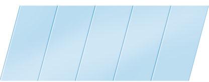 Матовый реечный потолок 75 P, цвет: панель - 015
