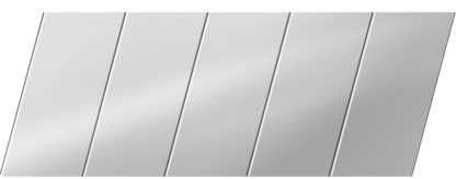 Зеркальный реечный потолок 75 P, цвет: панель - 131