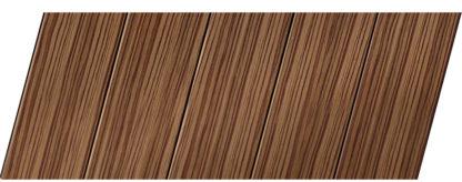 Реечный потолок с фактурой темное дерево (зебрано) 75 P, цвет: панель - 208