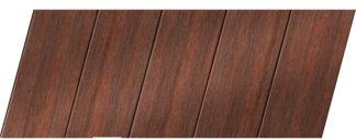 Реечный потолок с фактурой темное дерево (махагон) 75 P, цвет: панель - 209