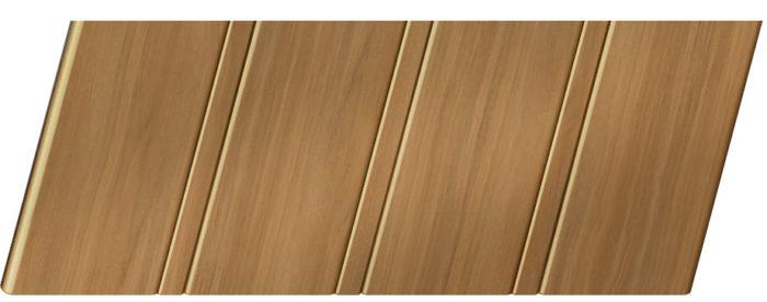 Реечный потолок с фактурой темное дерево (тёмное дерево) 84 R, цвет: панель - 106