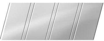 Зеркальный реечный потолок 84 R, цвет: панель - 131