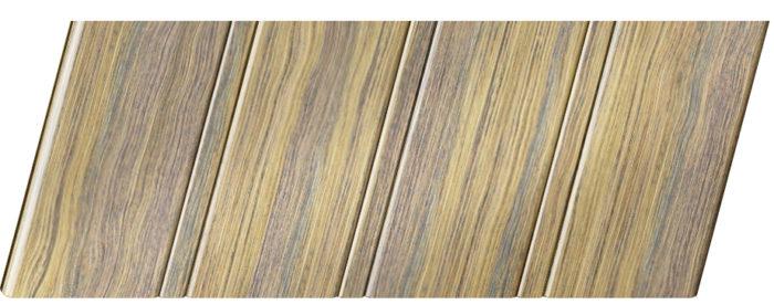 Реечный потолок с фактурой темное дерево (дуб антик) 84 R, цвет: панель - 204
