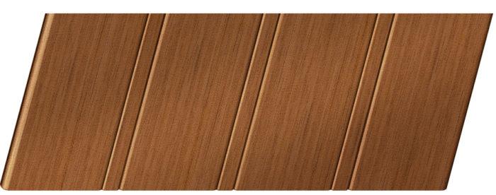 Реечный потолок с фактурой темное дерево (орех) 84 R, цвет: панель - 206