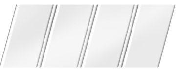 Матовый реечный потолок 84 R(V), цвет: панель - 140, профиль - 140