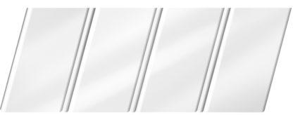Глянцевый реечный потолок 84 R(V), цвет: панель - 141, профиль - 140