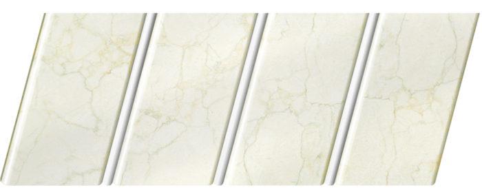 """Реечный потолок """"под мрамор"""" 84 R(V), цвет: панель - 337, профиль - 140"""