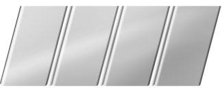 Зеркальный реечный потолок 84 R(V), цвет: панель - 131, профиль - 141