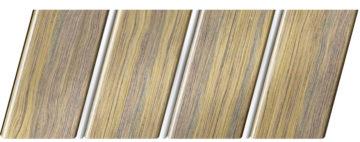 Реечный потолок с фактурой темное дерево (дуб антик) 84 R(V), цвет: панель - 204, профиль - 141