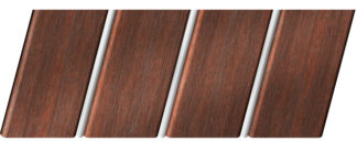 Реечный потолок с фактурой темное дерево (махагон) 84 R(V), цвет: панель - 209, профиль - 141