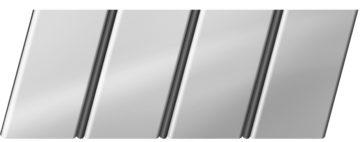 Зеркальный реечный потолок 84 R(V), цвет: панель - 131, профиль - 288