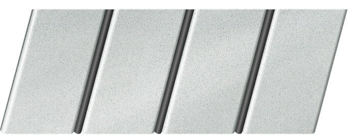 """Реечный потолок """"под металлик"""" 84 R(V), цвет: панель - 133, профиль - 288"""