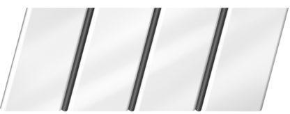 Глянцевый реечный потолок 84 R(V), цвет: панель - 141, профиль - 288