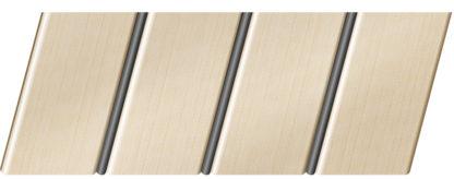 Реечный потолок с фактурой светлое дерево (бук песочный) 84 R(V), цвет: панель - 201, профиль - 288