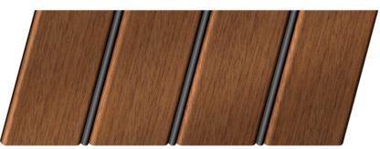 Реечный потолок с фактурой темное дерево (дуб медовый) 84 R(V), цвет: панель - 205, профиль - 288