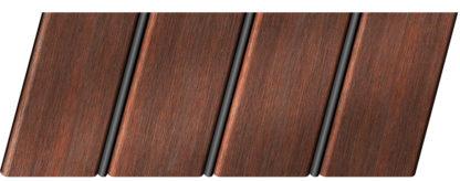 Реечный потолок с фактурой темное дерево (махагон) 84 R(V), цвет: панель - 209, профиль - 288