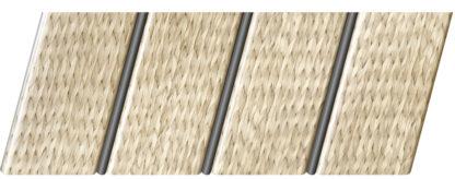 Реечный потолок с фактурой светлое дерево (ротанг) 84 R(V), цвет: панель - 212, профиль - 288