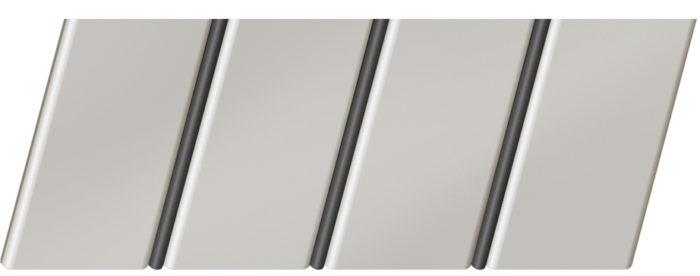 Матовый реечный потолок 84 R(V), цвет: панель - 233, профиль - 288
