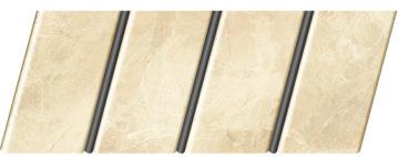 """Реечный потолок """"под мрамор"""" 84 R(V), цвет: панель - 336, профиль - 288"""