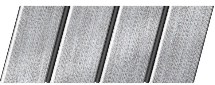 """Реечный потолок """"под металлик"""" 84 R(V), цвет: панель - 501, профиль - 288"""