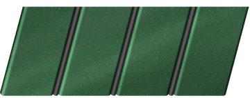 """Реечный потолок """"под металлик"""" 84 R(V), цвет: панель - 561, профиль - 288"""