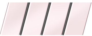 Матовый реечный потолок 84 R(V), цвет: панель - 716, профиль - 288