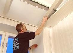 Установка и монтаж реечного потолка