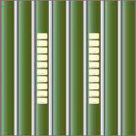Реечный потолок 84 R (закрытый), цвет 561, профиль 131, комплект